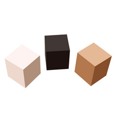 3 boxes isolated on white background vector image