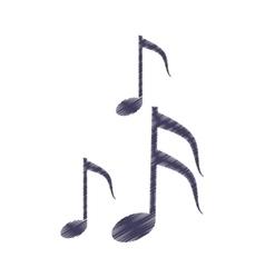 drawing musical note melody symbol vector image
