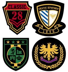 emblem royal badge shield vector image vector image