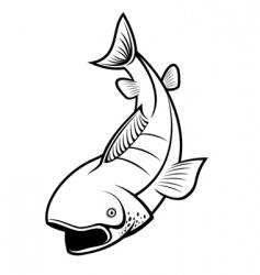 fishing symbol vector image vector image