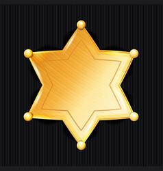 sheriff badge star classic symbol vector image vector image