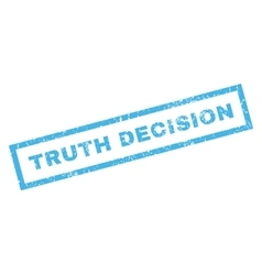 Truth Decision Rubber Stamp vector image vector image