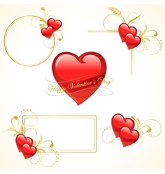 valentine heart frame vector image