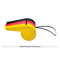 A Whistle of Federal Republic of Germany vector image