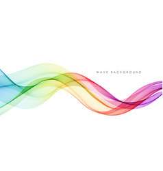 Abstract colorful flowing wave lines vector