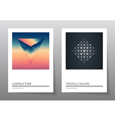 Abstract geometry backgrounds set A4 format vector image
