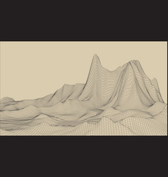 Abstract wireframe landscape backgroun vector
