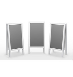 advertising board sandwich 3d blank display mockup vector image