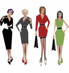 angular women vector image vector image