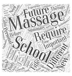 Are You Cut Out For Massage School Word Cloud vector