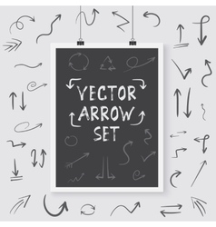 Arrow Set Poster on a Wall Handdrawn vector