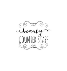 badge for small businesses - beauty salon counter vector image vector image