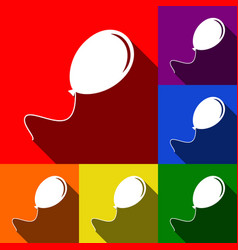 balloon sign set of icons vector image