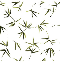 bamboo chaotic seamless pattern on white vector image
