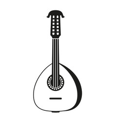 black and white lute vector image