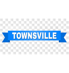blue tape with townsville title vector image