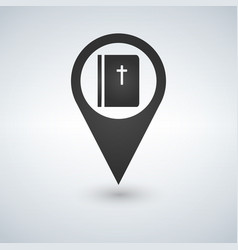 book bible pointer icon vector image