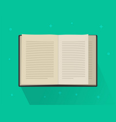 book paper open or textbook pages with text vector image
