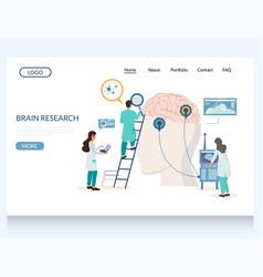 brain research website landing page design vector image