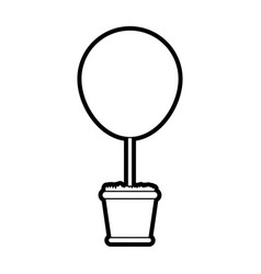 Bush plant in pot icon image vector