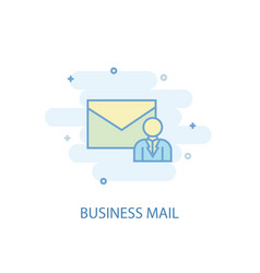 Business mail line concept simple line icon vector