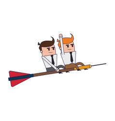 business teamwork coworkers vector image