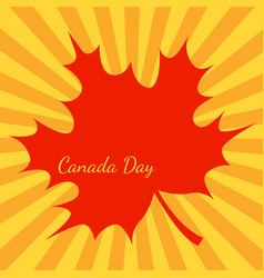 canada day orange background rays from the vector image