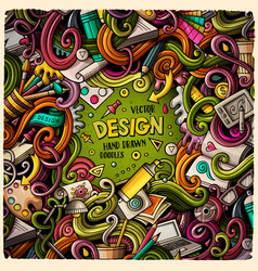 cartoon cute doodles design frame vector image