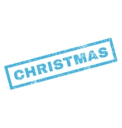 Christmas Rubber Stamp vector