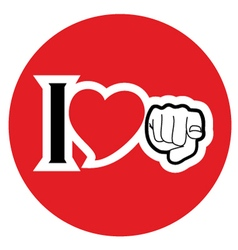 Circle love symbol vector image