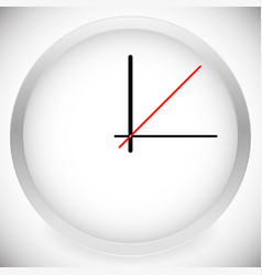 clock template with 3 hour hands vector image