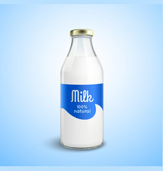 Closed Bottle Of Milk vector