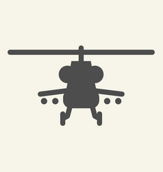 combat helicopter solid icon military copter vector image