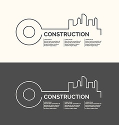 Construction houses background vector