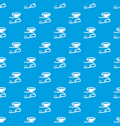 contact lenses pattern seamless blue vector image
