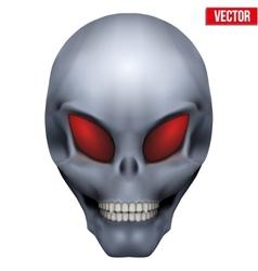 Creative Humanoid alien skull vector image