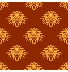 Dainty yellow colored floral seamless pattern vector