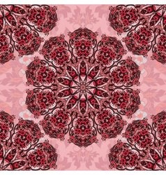 Decorative seamless floral pattern round vector image