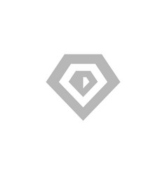diamond jewellery logo design template vector image
