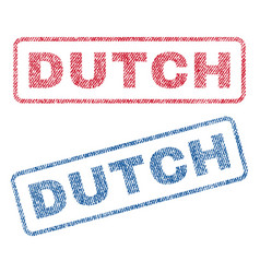 Dutch textile stamps vector