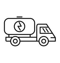 eco energy truck icon outline style vector image