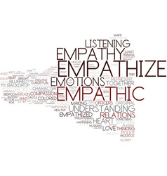 Empathize word cloud concept vector
