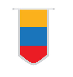 Flag of colombia on a banner vector