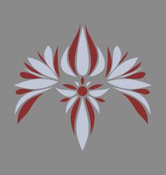 Flat icon on theme arabic business oriental flower vector