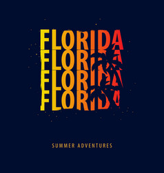Florida summer graphic with palms t-shirt design vector