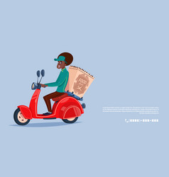 Food delivery service icon african american vector