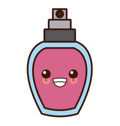 Fragrance bottle isolated cute kawaii cartoon vector