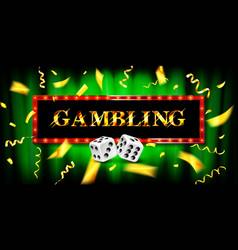 Gambling game cash game vector