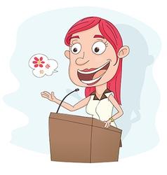 Giving speech vector