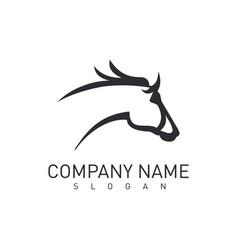 Grey horse head logo vector